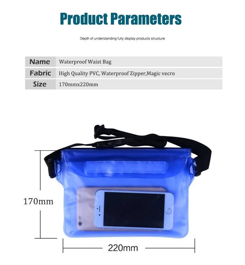 New Waterproof Shoulder Waist Swim Bag